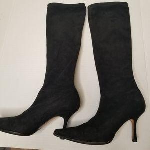 Jimmy Choo high heeled leather boots
